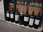Large wine bottles